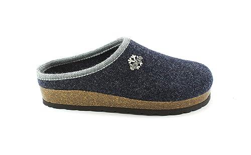 GRUNLAND Sara CB0169 Blu Ciabatte Pantofole Donna Plantare Feltro Lana 40   Amazon.it  Scarpe e borse 454c33dee97