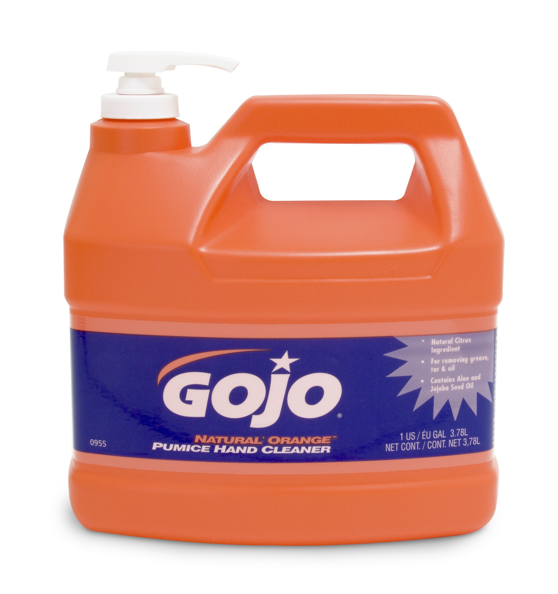 GOJO NATURAL ORANGE Pumice Industrial Hand Cleaner, 1 Gallon Quick Acting Lotion Hand Cleaner with Pumice Pump Bottle (Pack of 2) - 0955-02 by Gojo (Image #2)