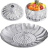 YLYL Veggie Vegetable Steamer Basket, Folding Steaming Basket, Metal Stainless Steel Steamer Basket Insert, Collapsible Steam