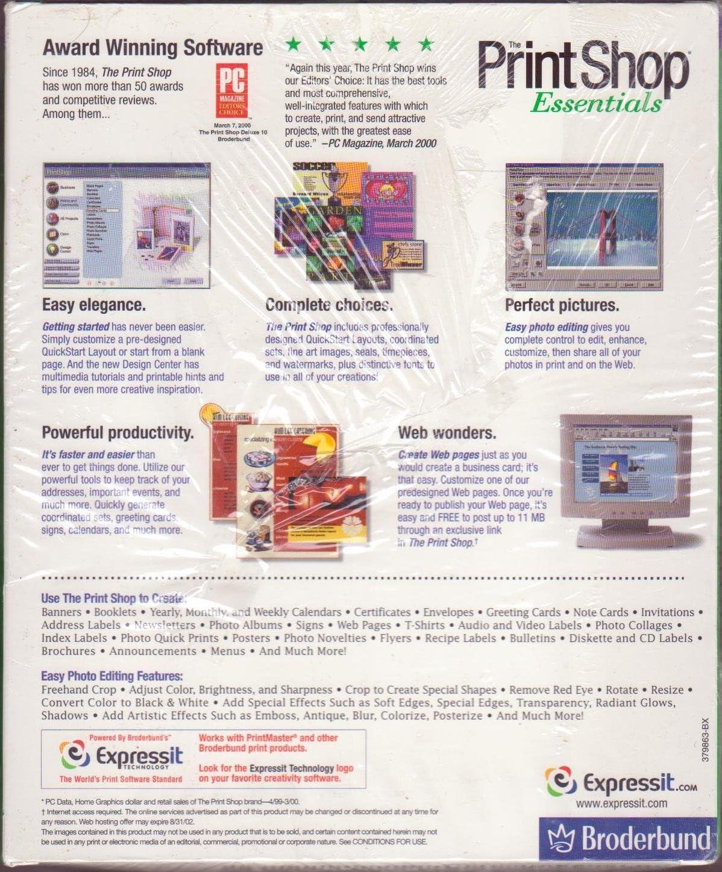 Amazon Com The Print Shop Essentials Version 11
