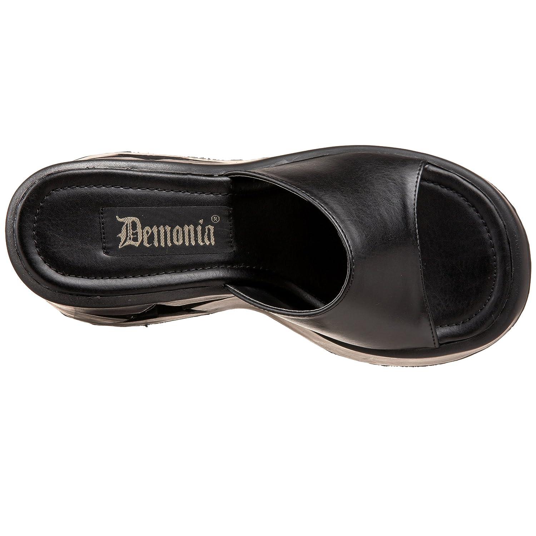 Demonia Dynamite-01 Dynamite-01 Demonia - Gothic Wedge-Plateau Schuhe 36-41 Schwarz e8d790