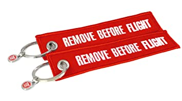 Llavero Remove Before Flight (Rojo) – 2 Unidades en Set