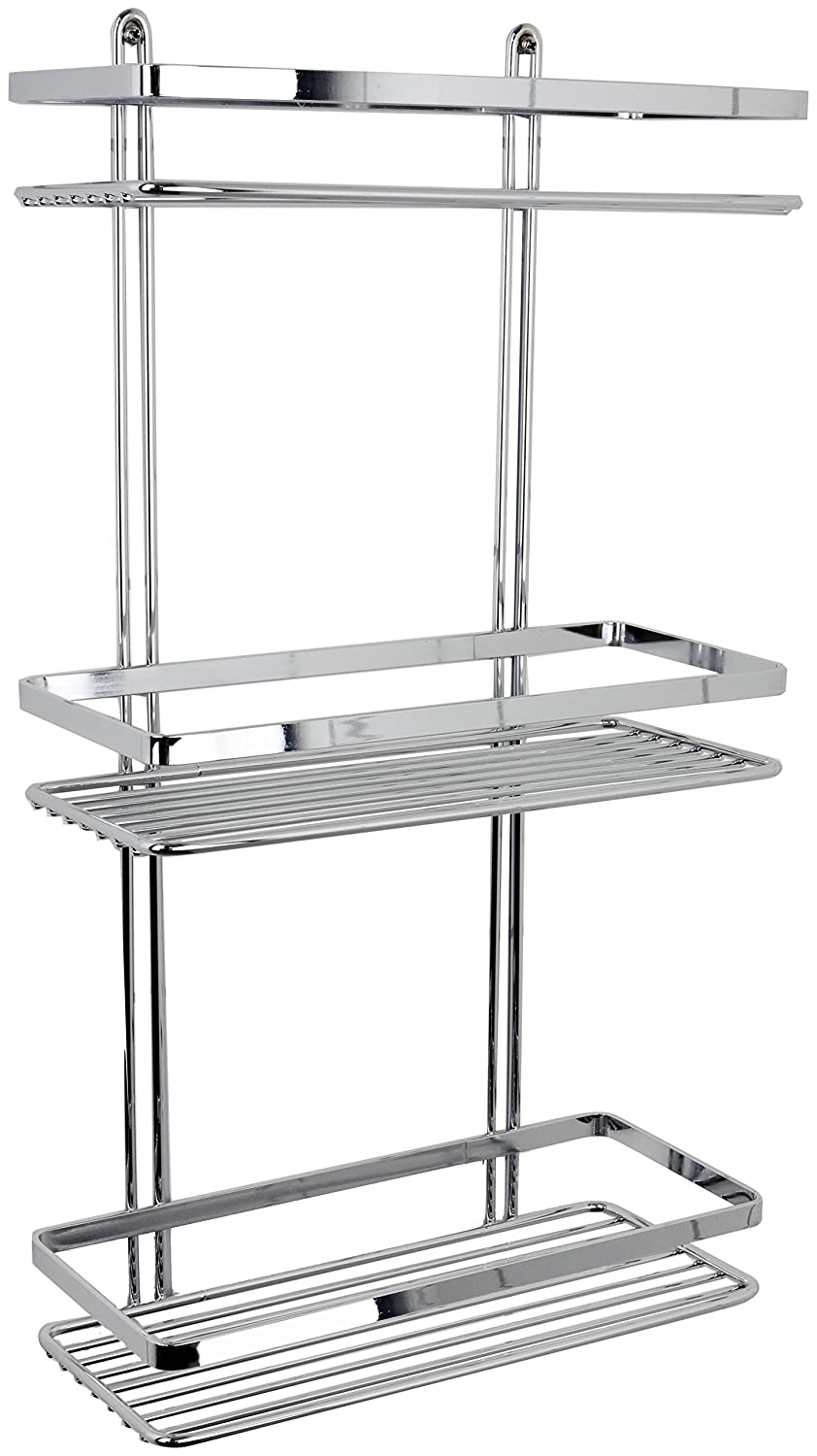 Satina WIRE Triple Shelf Shower Basket Chrome 3 Tier By Satina:  Amazon.co.uk: Kitchen U0026 Home