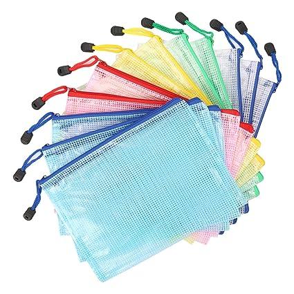 Bolsa de Archivo de cremallera Kasimir A5 Bolsa de documentos de zip 5 colores malla bolsa de archivo bolsas de cremallera impermeable con cremallera ...