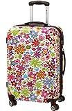 Koffer Trolley Reisekoffer Hartschale FLOWER Hartschale L 68 Bunt