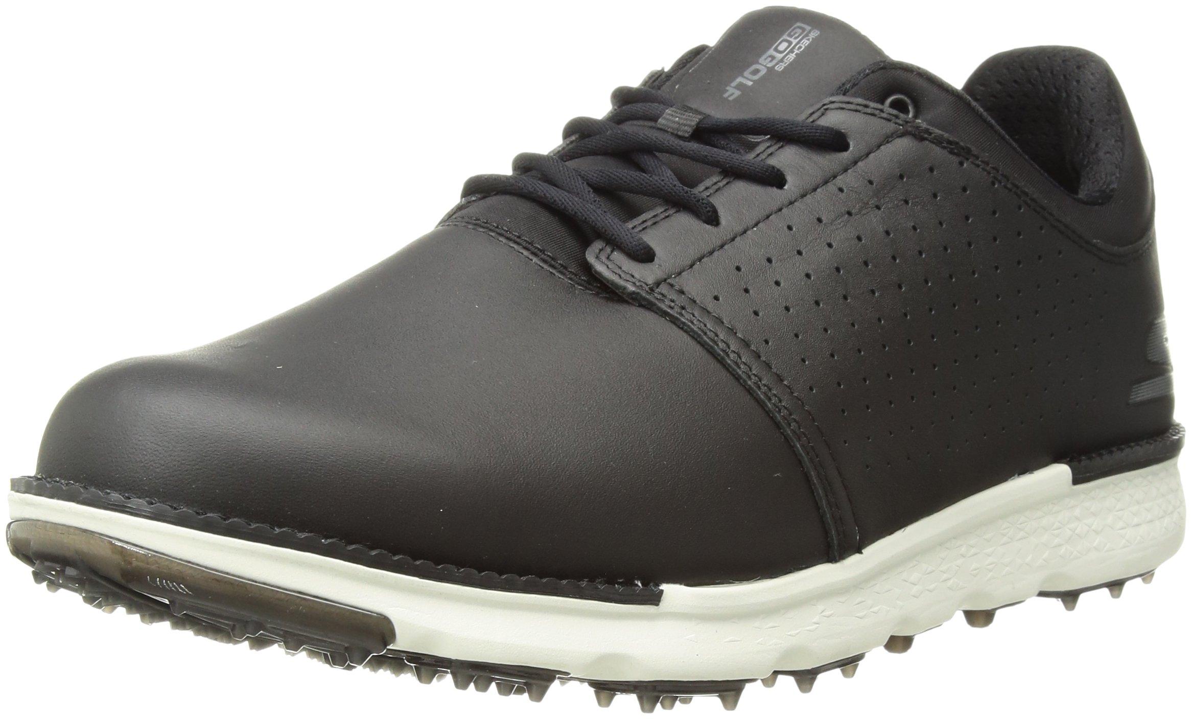 Skechers Performance Men's Go Elite 3 Approach LT Relaxed Fit Golf-Shoes,Black/White,11 M US