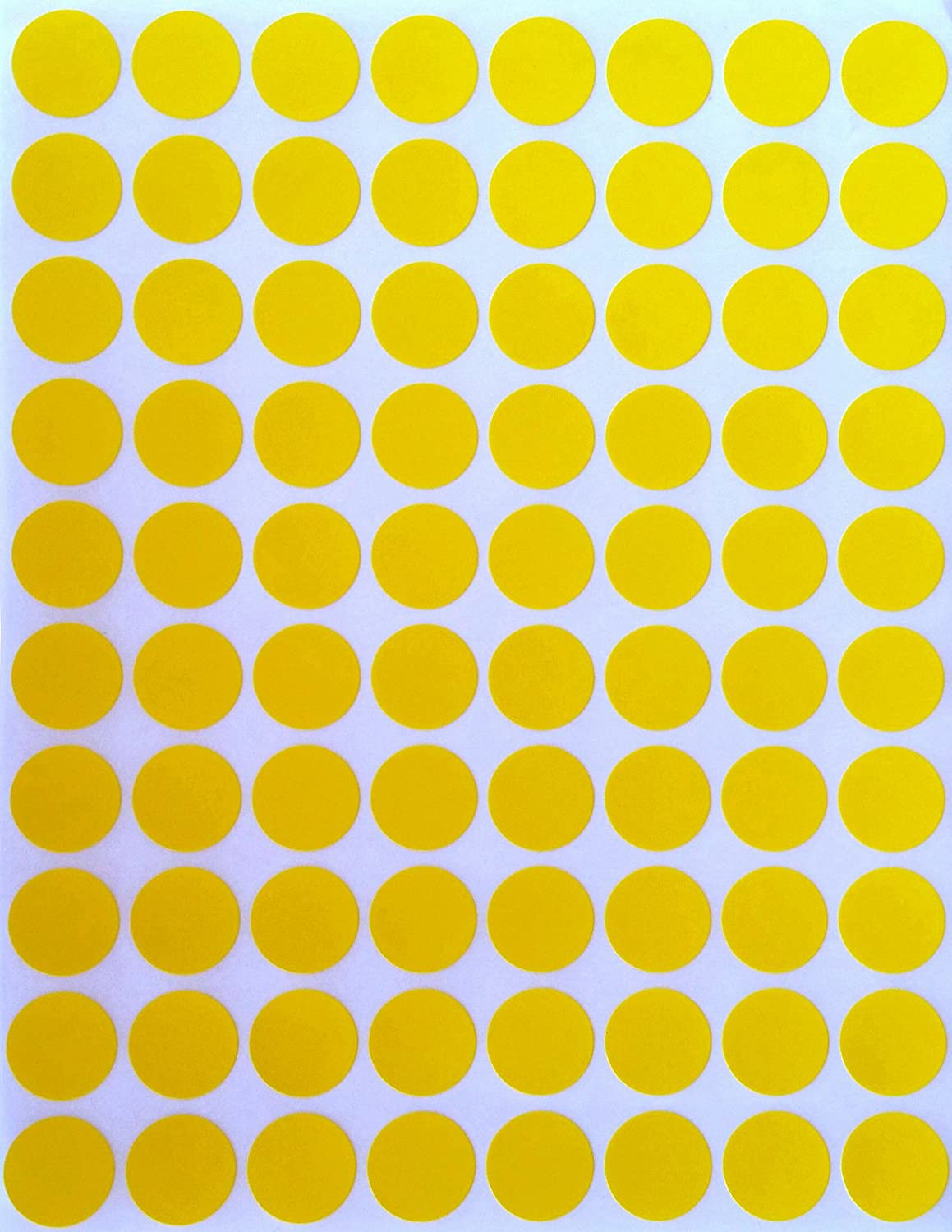 Color Coding Labels 1//2 Round 13mm Diameter 1200 Pack 0.5 Half inch inch Rounds Brown Sticker Dot Stickers -