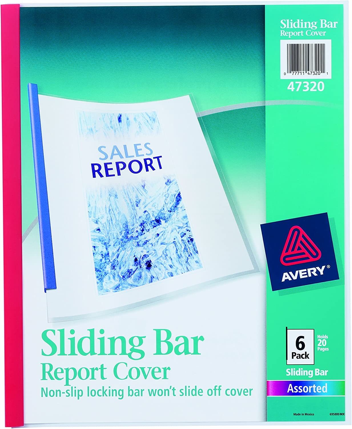 Pack Of 50 Office Depot® Brand Sliding Bar Report Covers Clear//White