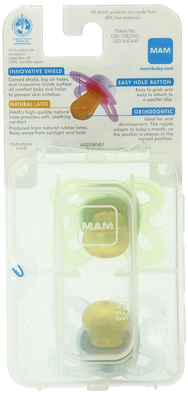 Amazon.com: MAM Start ortodoncia Chupete de látex recién ...