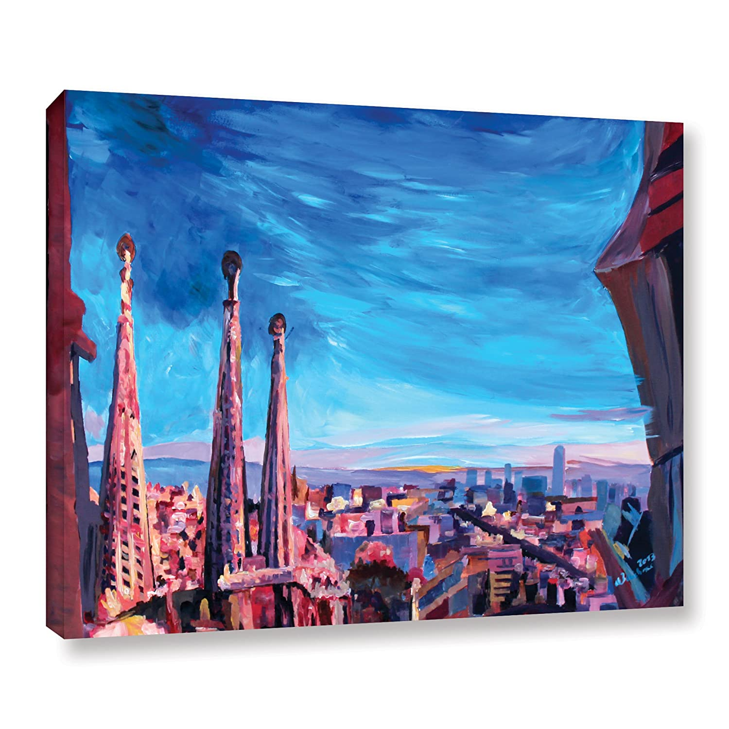 18 by 24-Inch The Art Wall 0ble001a1824w Art Wall chicago with Sagrada Familia Gallery Wrapped Canvas Artwork by Markus Bleichner