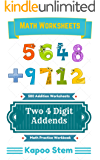 500 Addition Worksheets with Two 4-Digit Addends: Math Practice Workbook (500 Days Math Addition Series)
