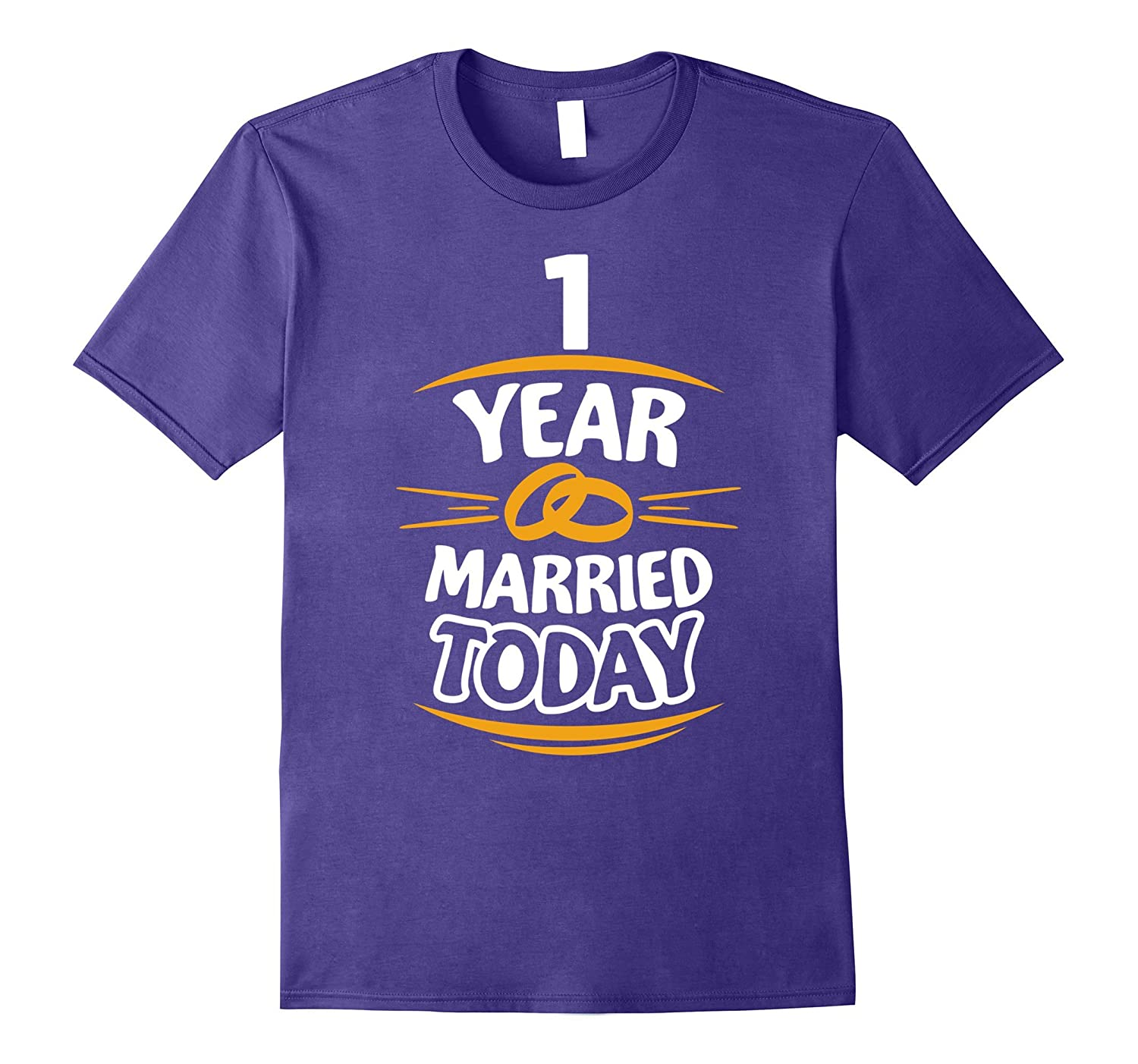 1st Anniversary Gift for Him First Year Wedding T-Shirt-TH