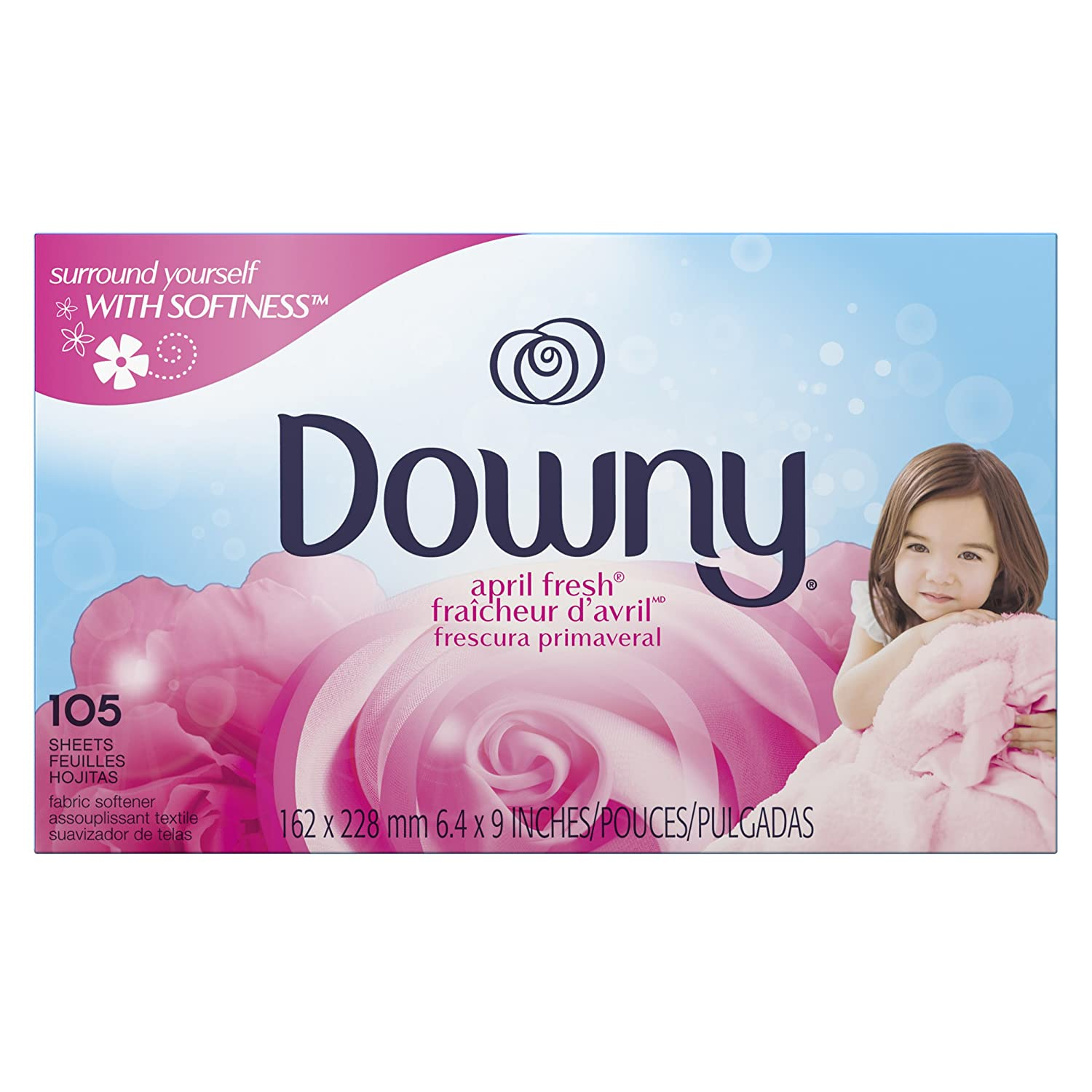 Downy April Fresh Fabric Softener Dryer sheets, 105 count