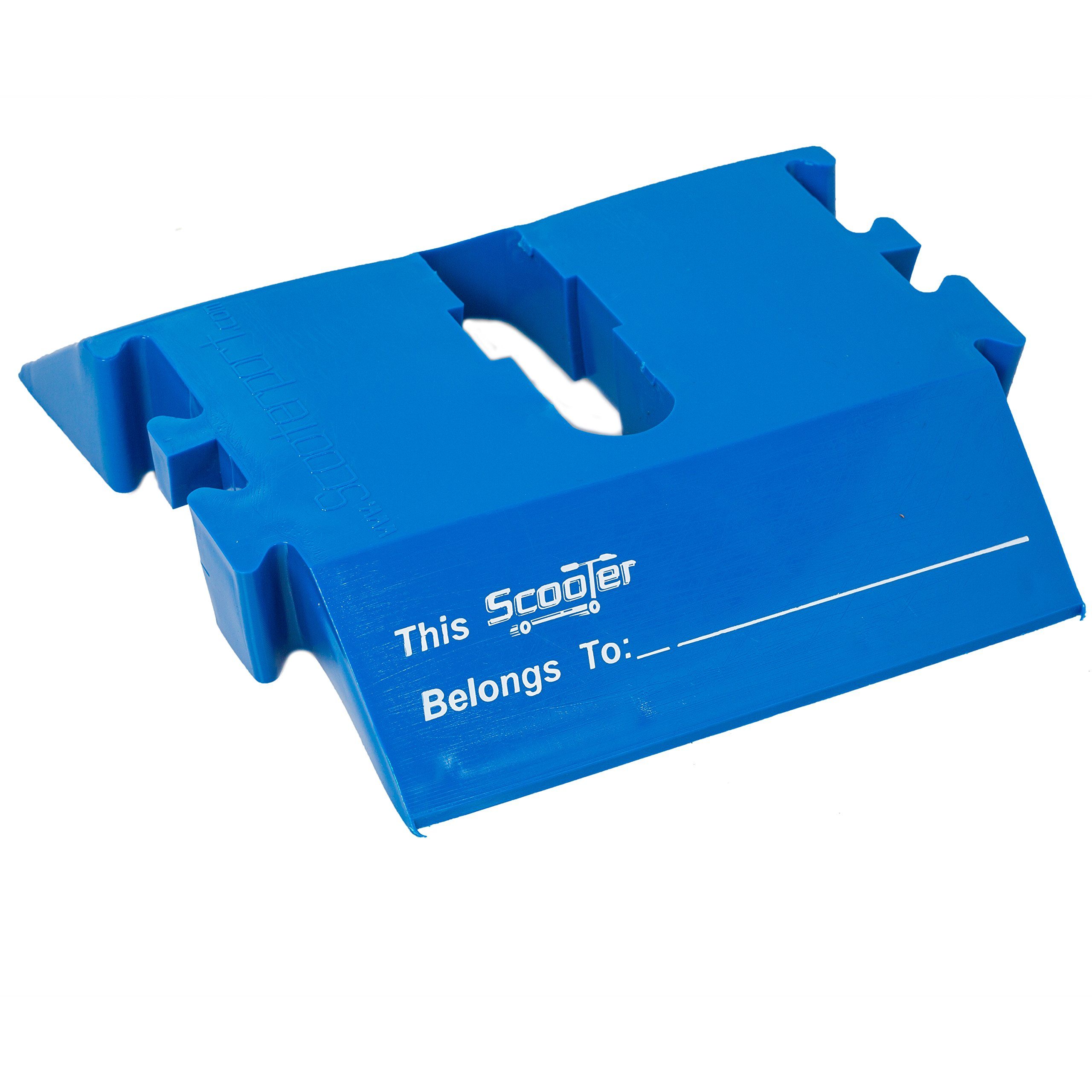 Scooter Stand By ScooterPorts - Fits Most Major Brands - Interlocking Design For Storage and Safety - Electric Blue