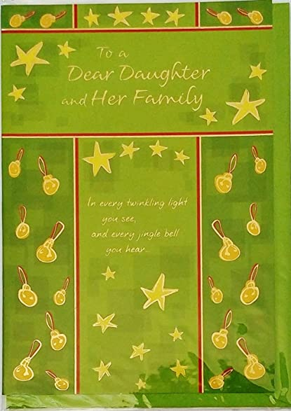 Amazon to a dear daughter and her family merry christmas to a dear daughter and her family merry christmas greeting card quotmay m4hsunfo