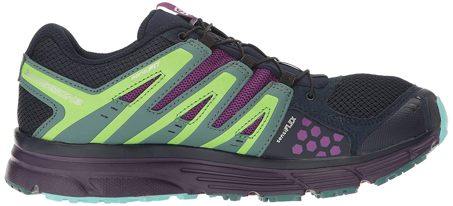 Salomon Women's X-Mission 3 W-w B01HD1W96Q 5 B(M) US|Navy Blazer/Grape Juice/North Atlantic