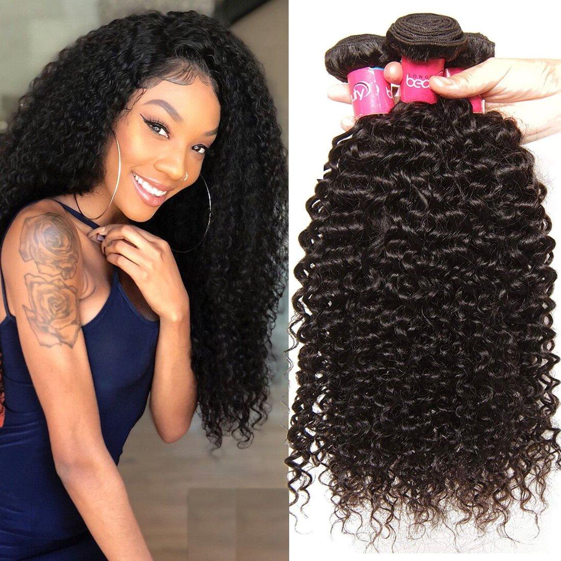 Amazon Klaiyi Hair Good Quality Brazilian Curly Hair Weave