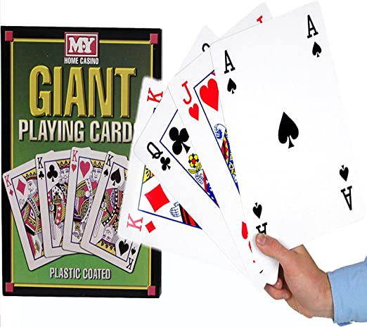 A4 Giant Jumbo Plastic Coated Playing Cards Deck 28 cm Outdoor Garden Family Party BBQ Game by MY: Amazon.es: Juguetes y juegos