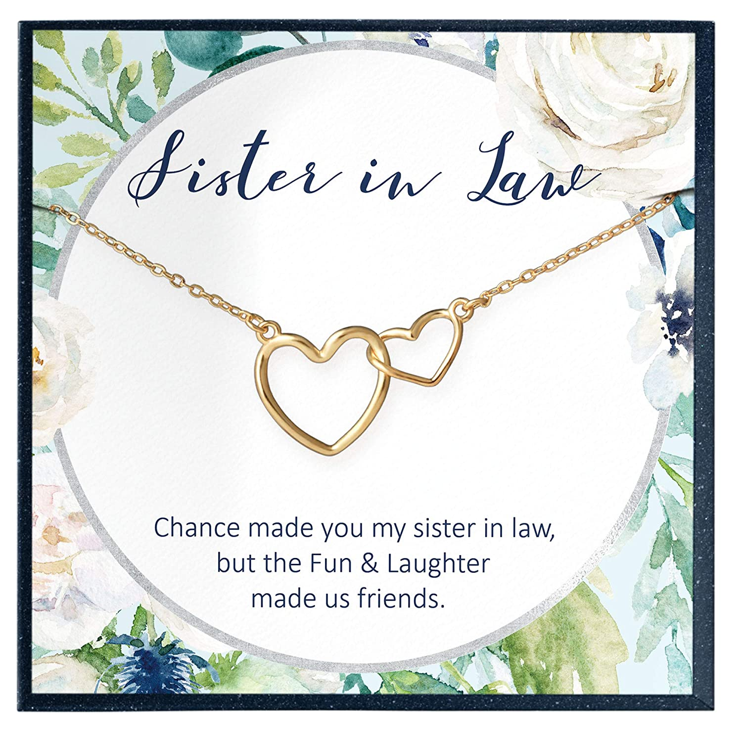 Sister in Law Wedding Gift in 14kt Gold Filled Sister in Law Necklace Silver Rose Gold Sister in Law Birthday Gift Sister in Law Gift