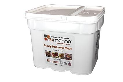 NuManna Family Pack w/ Meat 146 Servings Emergency Survival Food Storage Kit Separate  sc 1 st  Amazon.com & NuManna Family Pack w/ Meat 146 Servings Emergency Survival Food ...