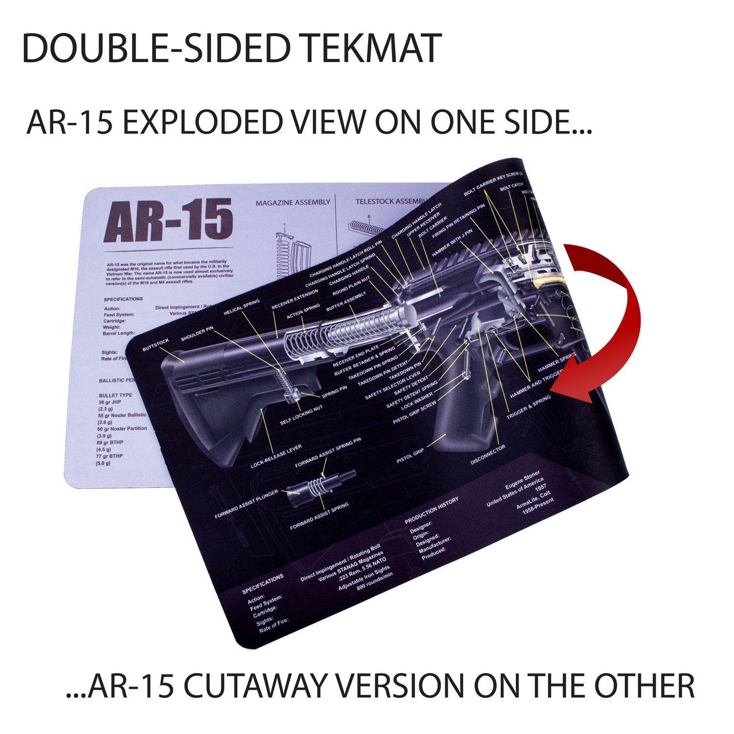 Best Rated In Gun Accessories Maintenance Storage Helpful Glock 19 Parts Diagram Tekmat Ar 15 Cleaning Mat 12 X 36 Thick Durable Waterproof