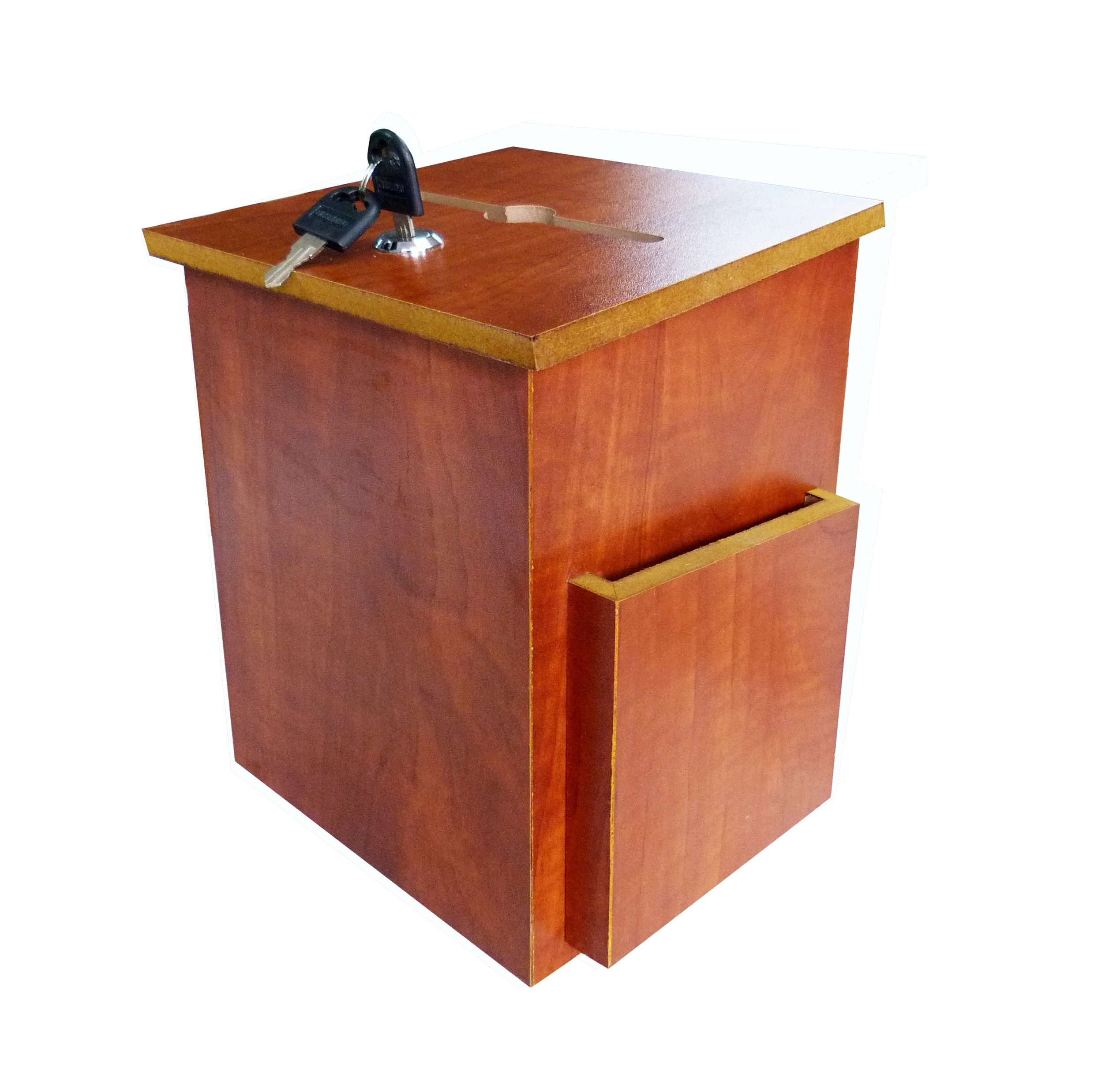 FixtureDisplays Wood Fund-raising Box Comment Collection Suggestion Box Donnation Charity Box 11463