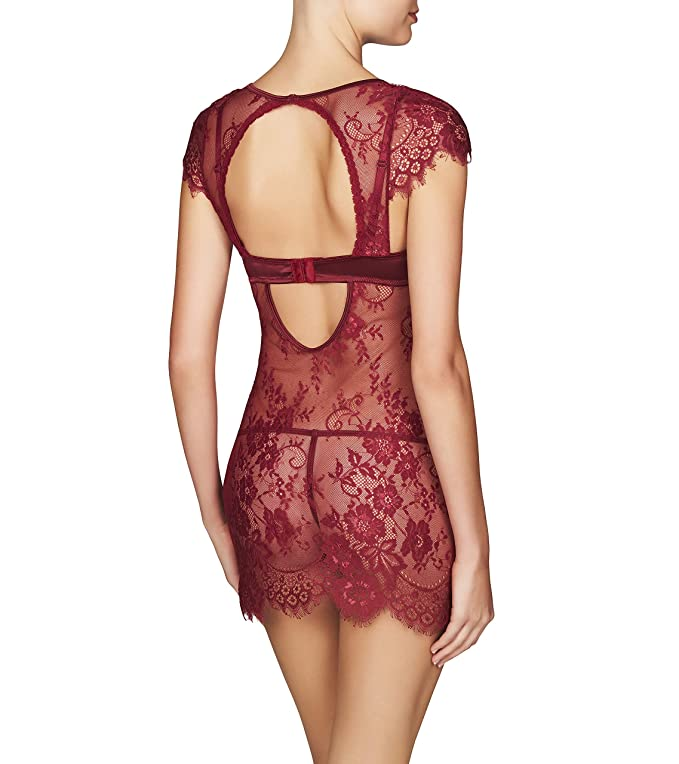 f8e940a9ad Frederick s Of Hollywood Women s Floral Lace Chemise Babydoll - Sexy Mesh  Lingerie at Amazon Women s Clothing store