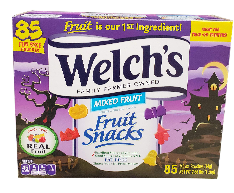 Welche's Halloween Fruit Snacks (85 Count) Net WT 42.5 Ounce, 42.5 Ounce
