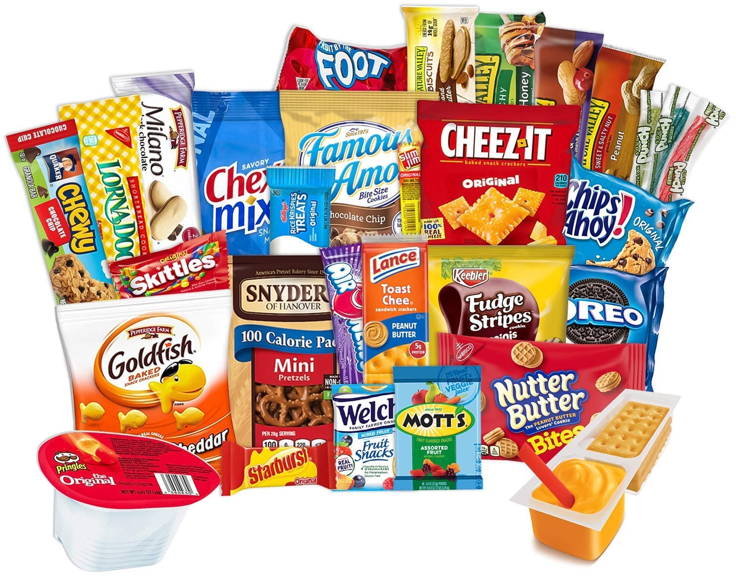 3 AM Snacks Care Package Food Cookies Bar Chips Candy Ultimate Variety Gift Box Pack Assortment Basket Bundle Mix Bulk Sampler Treats College Students Final Exam Office Easter 45 Pack