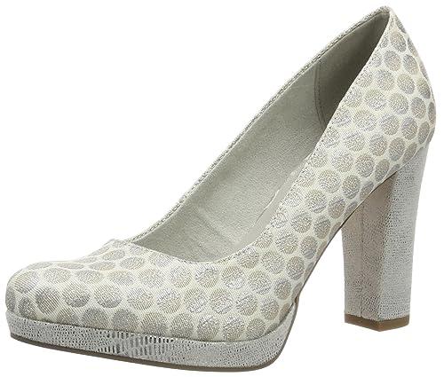 22449, Zapatos de Tacón para Mujer, Azul (Denim/Cork 861), 37 EU Tamaris