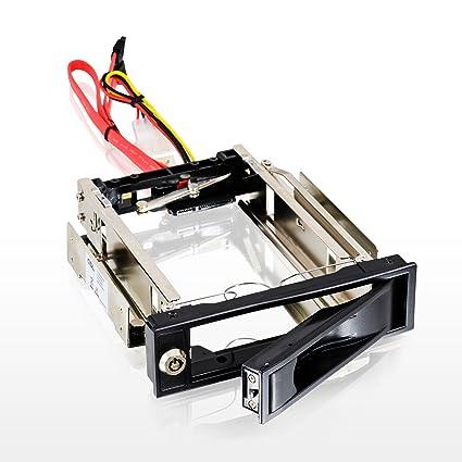 CSL - Caja extraíble 3,5 Pulgadas SATA Mobile Rack - Caja para Disco Duro SATA I II III HDD en bahía de Disco de 5,25 Pulgadas - hasta 6.0 GBit s - ...