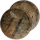 Briar and Oak Bourbon Barrel Lazy Susan Turntable Made in the USA from Authentic Reclaimed Rustic Wood