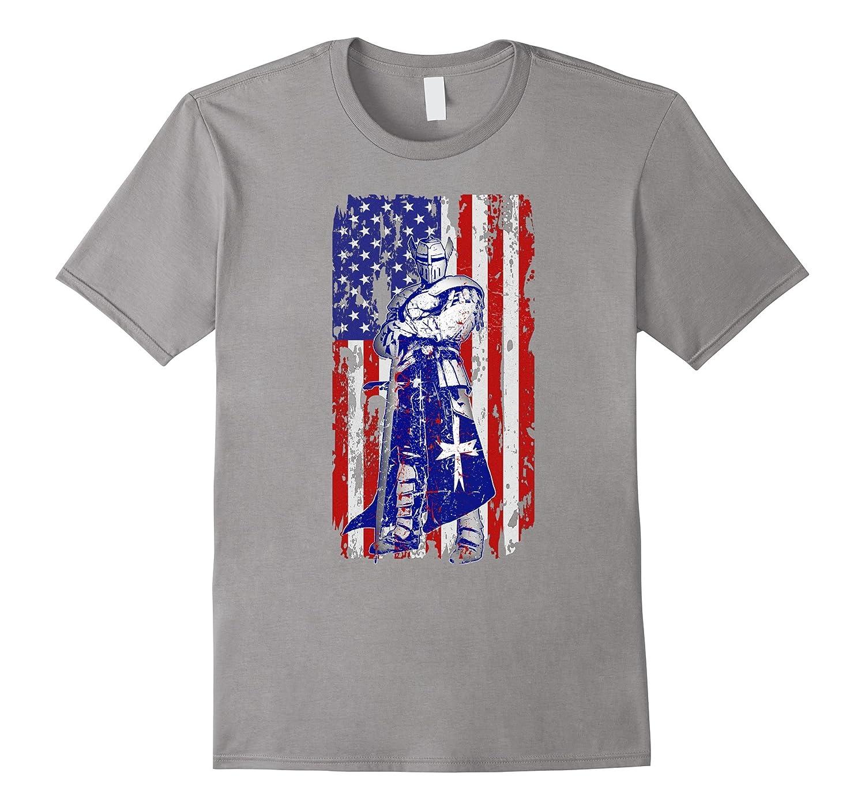 patriotic gifts for men veteran crusader flag design shirt