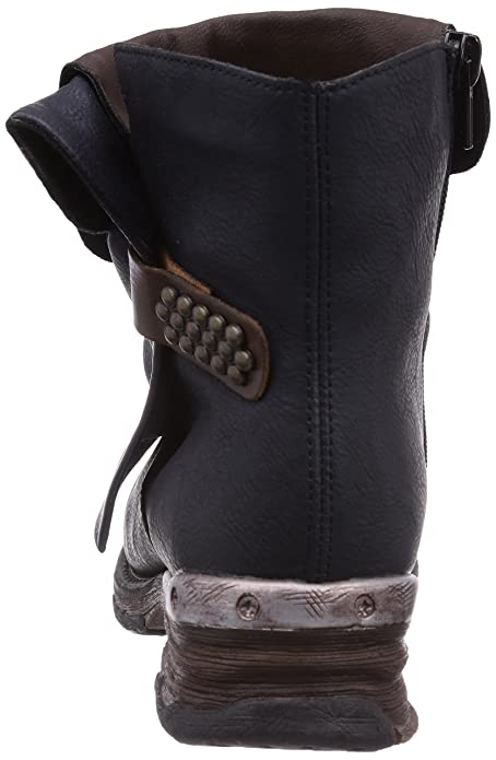 Rieker 78673-14, Boots femme - Bleu, 40 EU