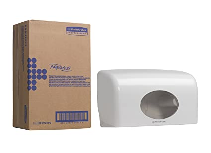 Aquarius 6992 Dispensador de Papel Higiénico en Rollo Pequeño, Blanco