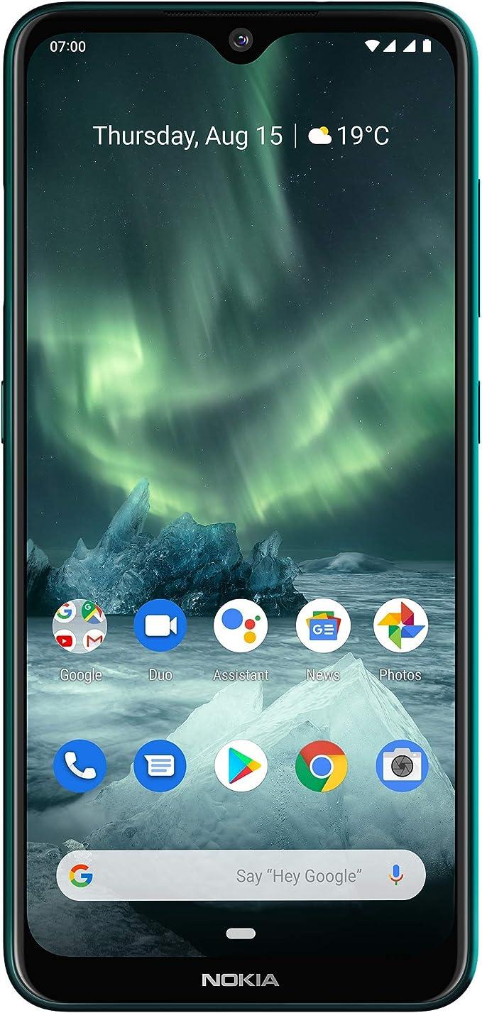 Nokia 7.2 Smartphone - German Product (16 cm / 6.3 Inches), 64 GB Internal Memory, 4 GB RAM, Dual-SIM, LTE, Smartphone, Cyan Green