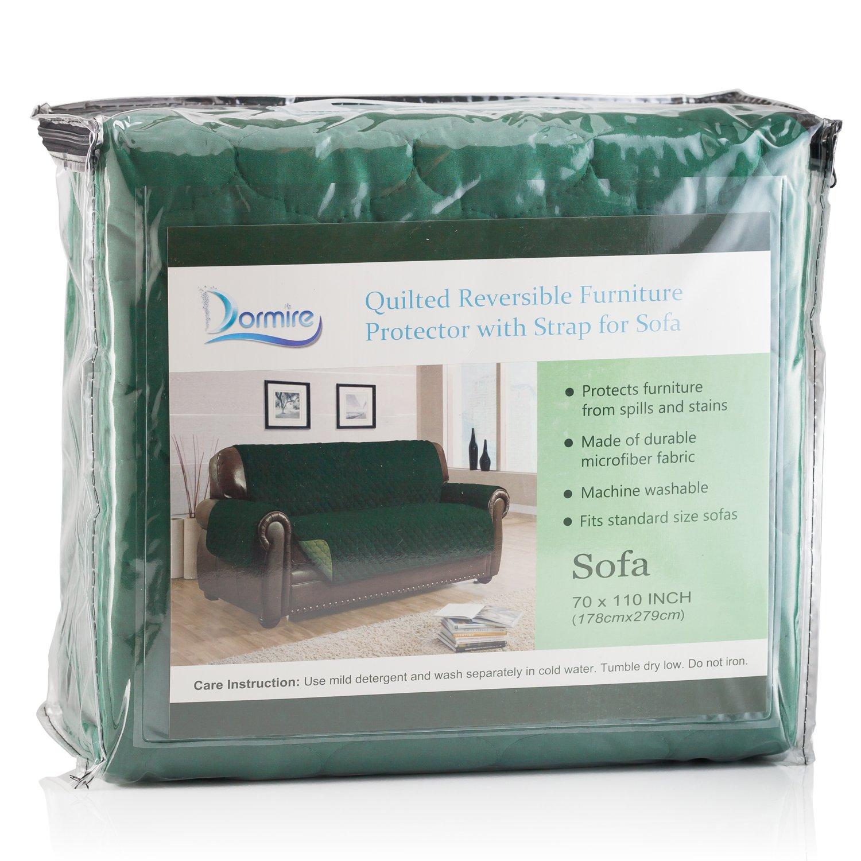 Dormire Protector con correa elástica para sofá Verde