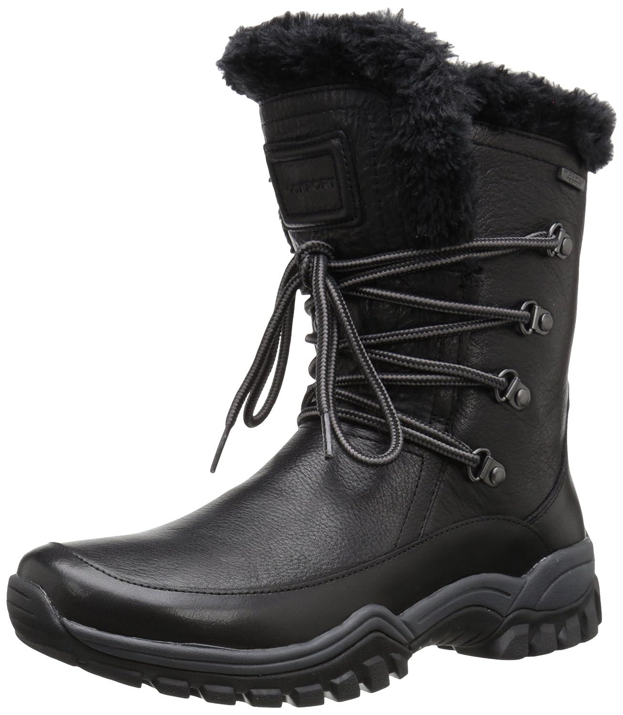 Rockport Women's Finna Fur Waterproof Snow Boot, Black