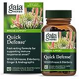 Gaia Herbs, Quick Defense, Fast-Acting Immune Support, Echinacea, Ginger Root, Sambucus Black Elderberry, Vegan Liquid Phyto