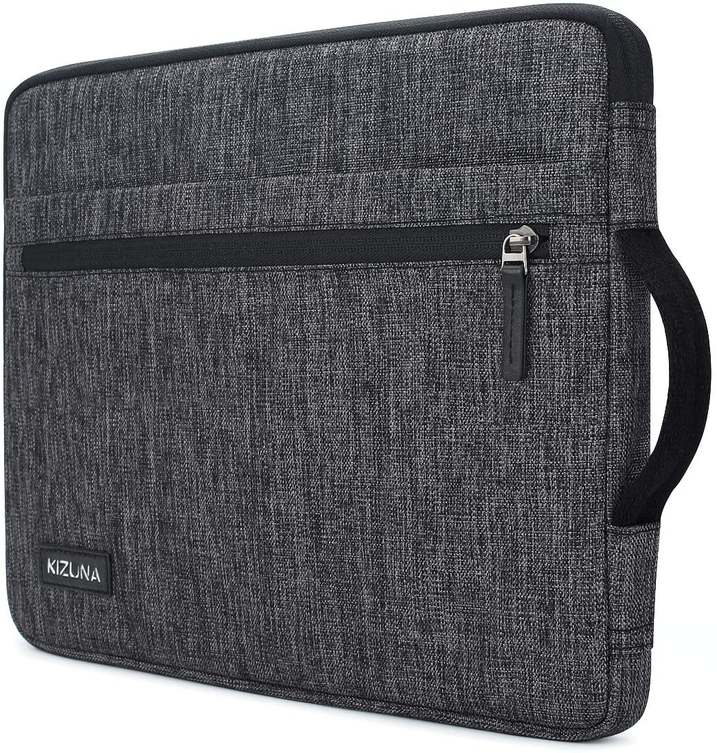 "kizuna 12.5-13 Inch Laptop Sleeve Case Water Resistant Computer Carrying Bag for 13.3"" MacBook Air 2020/13.9"" Huawei MateBook X Pro/14 Lenovo Yoga C940/13.3"" Yoga 730 720 S730/Dell Latitude 7390,Grey"