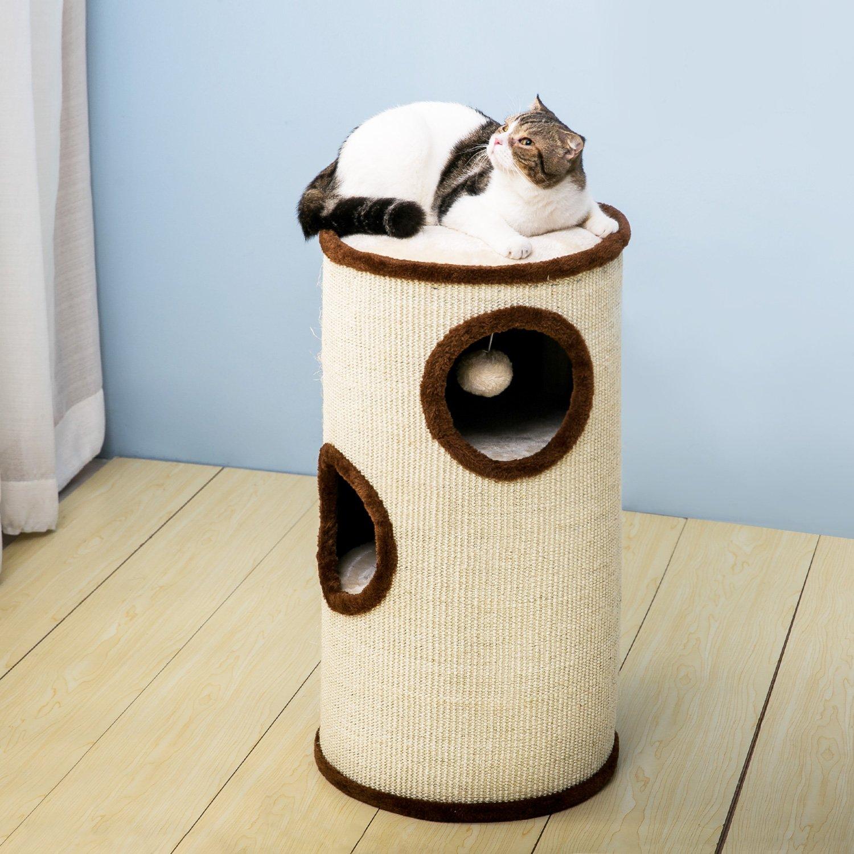 PURLOVE Cat Tree Cat Scratcher Activity Centre Scratching