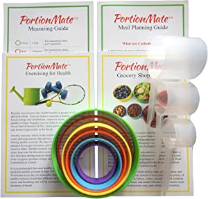 PortionMate Plus - The Ultimate Bariatric Meal Prep Food Ring Set with Instructive Booklet Guides - Now Portion Control is Fast, Affordable, and Accurate!