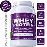 HealthyHey Sports Whey 80% Protein Unflavoured Concentrate, 1kg