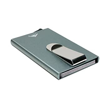 Stealth Wallet | El Bloqueo de la Tarjeta RFID crédito de la Carpeta Titular del eyector y Clip del Dinero | Minimalista Carpeta de Aluminio con la ...
