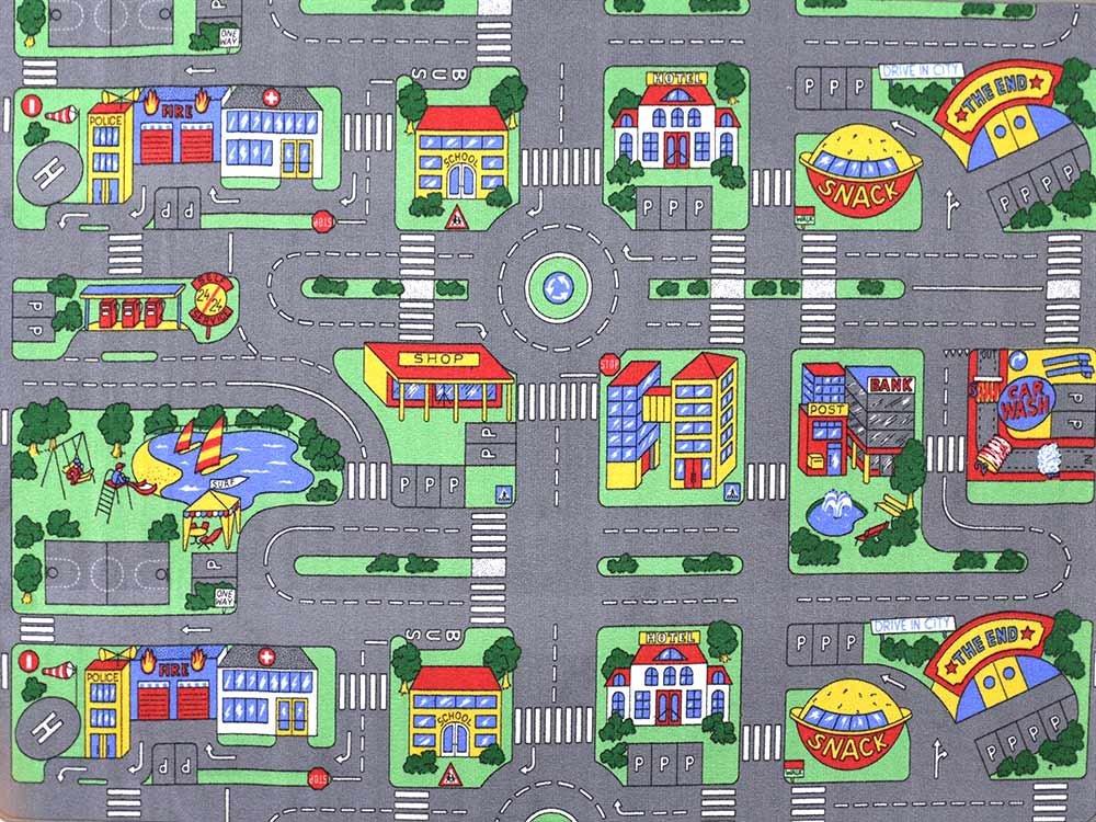 Auto Teppich Hevo® Kinder Strassen Spielteppich | Kinderteppich