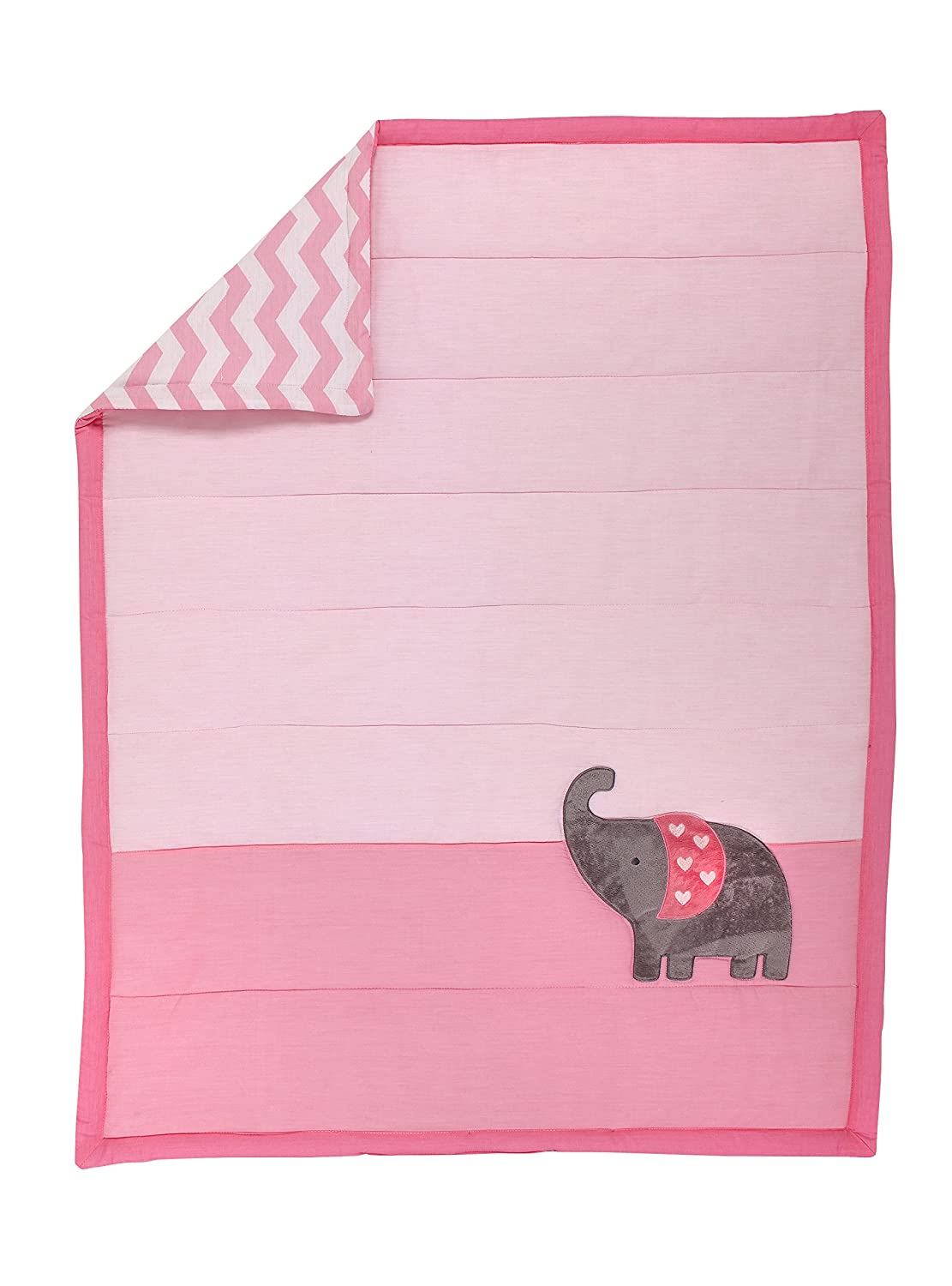 Little Love by NoJo Separates Collection Elephant Applique Comforter, 42