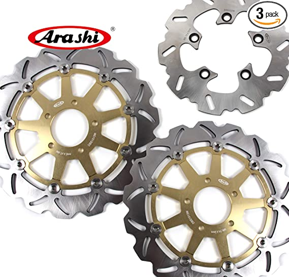 Arashi Front Rear Brake Disc Rotors for SUZUKI GSXR 1000 2001 2002 Motorcycle Replacement Accessories GSX R 600 750 1000 GSX-R1000 GSXR1000 600 750 TL1000S Black 01 02
