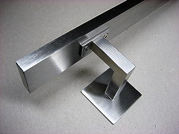 Edelstahl Handlaufträger Konsole Wand Halter für Vierkantrohr 40x40 mm gerade