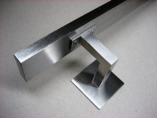 Handlauftr/äger Handlaufhalter EDELSTAHL V4A Handlaufst/ütze Square Line f/ür Wandbefestigung M8 Gewinde Handlauf /Ø42,4 mm matt geb/ürstet
