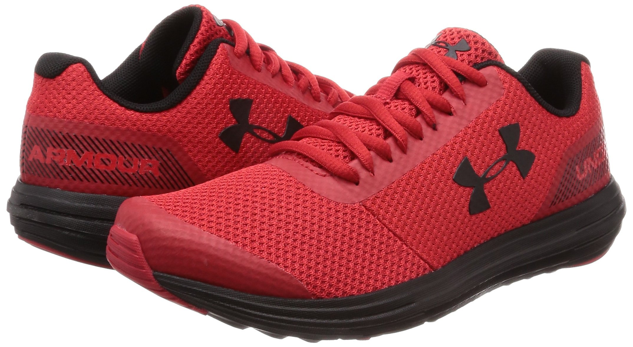 Under Armour Boys' Grade School Surge RN Sneaker, Red (600)/Black, 3.5 by Under Armour (Image #5)